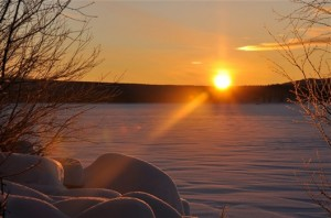 Härlig bild från Storvindeln idag den 30 dec där man fick se solen en stund.