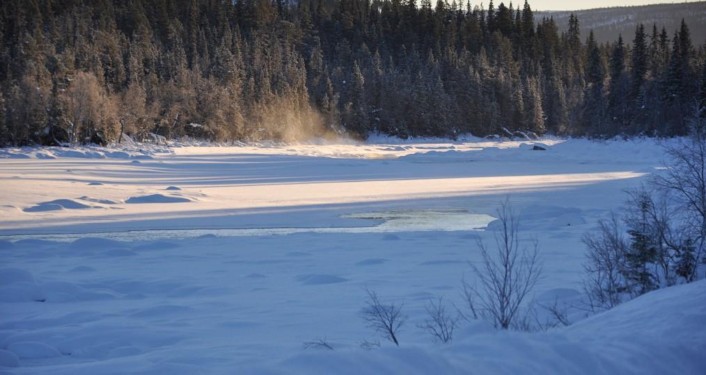 Guordisbäcken där isen ligger