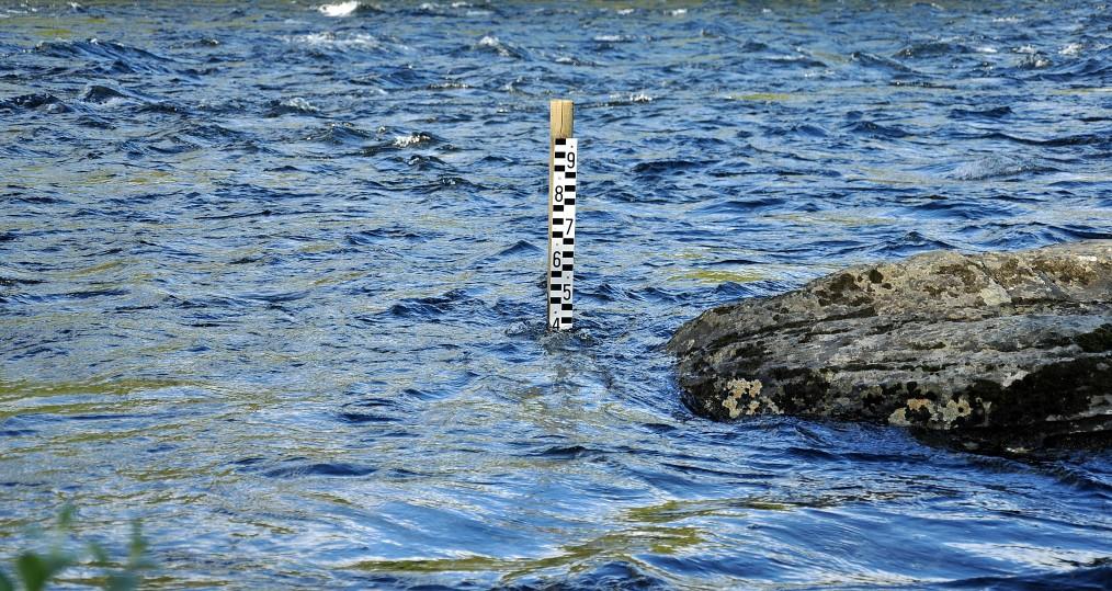 Vattenstånd vid Sjöforsen den 25 juni