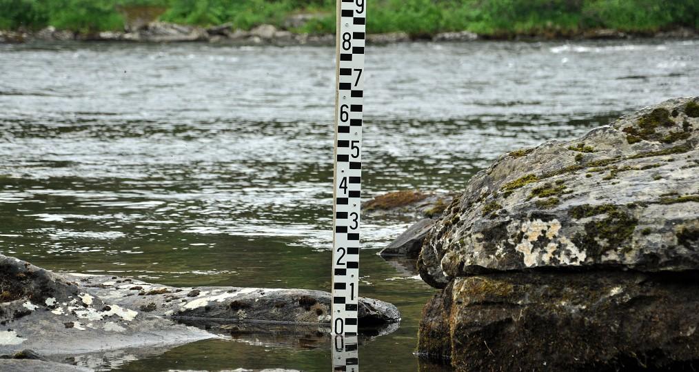 Vattennivån i dag vid Sjöforsen