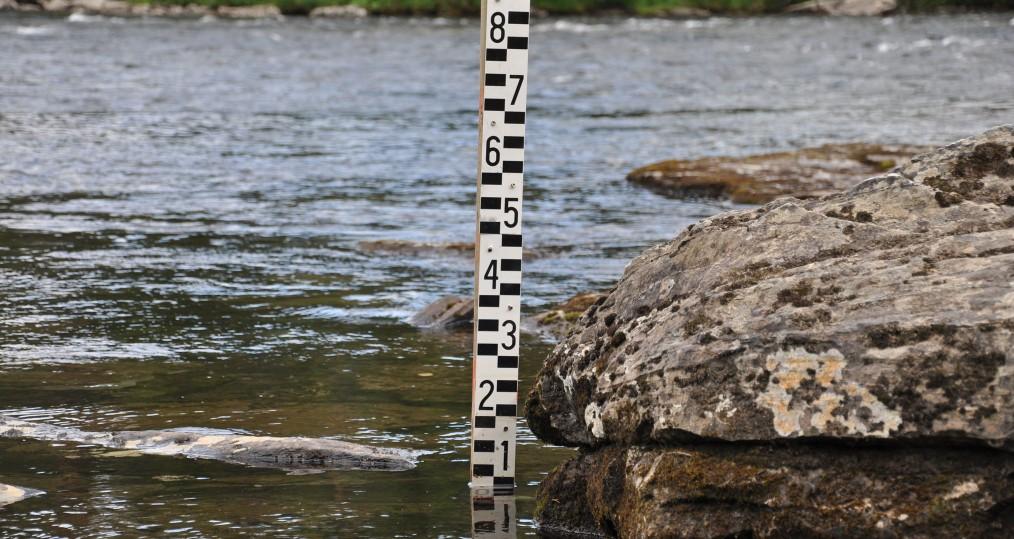 Vattennivån vid Sjöforsen den 22 juli