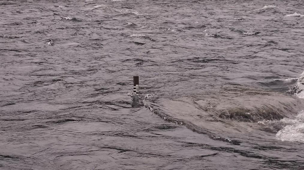 Vattennivåmätarn vid Sjöforsen idag