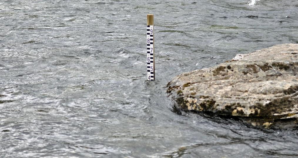 Vattennivån i går kväll
